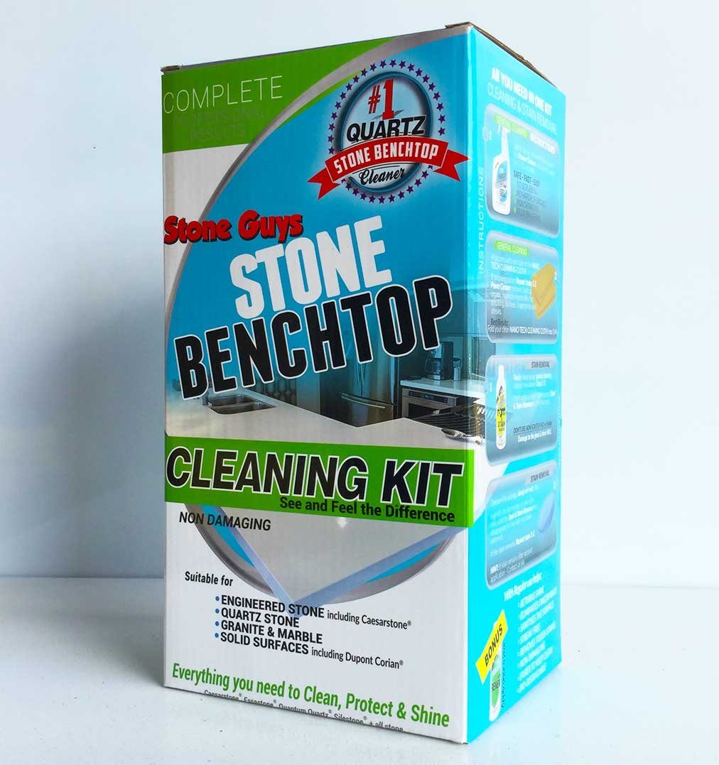 Amazon.com: Stone Countertop Cleaner, Polish & Stain Removal Kit ...