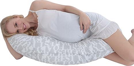 i-baby Almohada Embarazada de Maternidad Embarazo Prenatal de Dormir Cojín Maternal Almohada Soporte de Cuerpo y Lactancia Funda Lavable de 100% ...