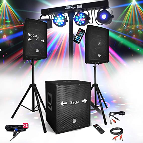 Sonido DJ Party BM Sonic BMS-1512 USB Bluetooth 2 altavoces + SUB ...