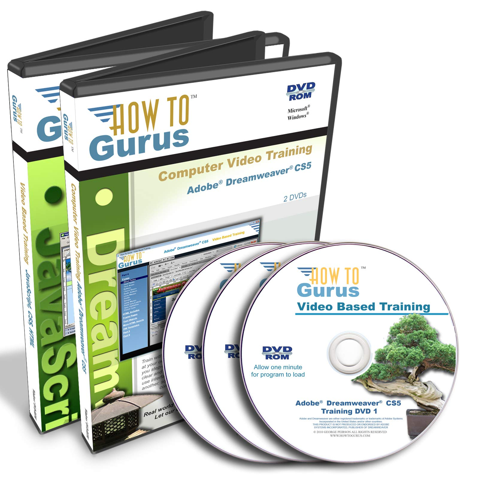 Adobe Dreamweaver CS5 Plus HTML Javascript CSS Tutorial Training on 3 DVDs 40 Hours in 427 Video Lessons Computer Software Video Tutorials by How To Gurus