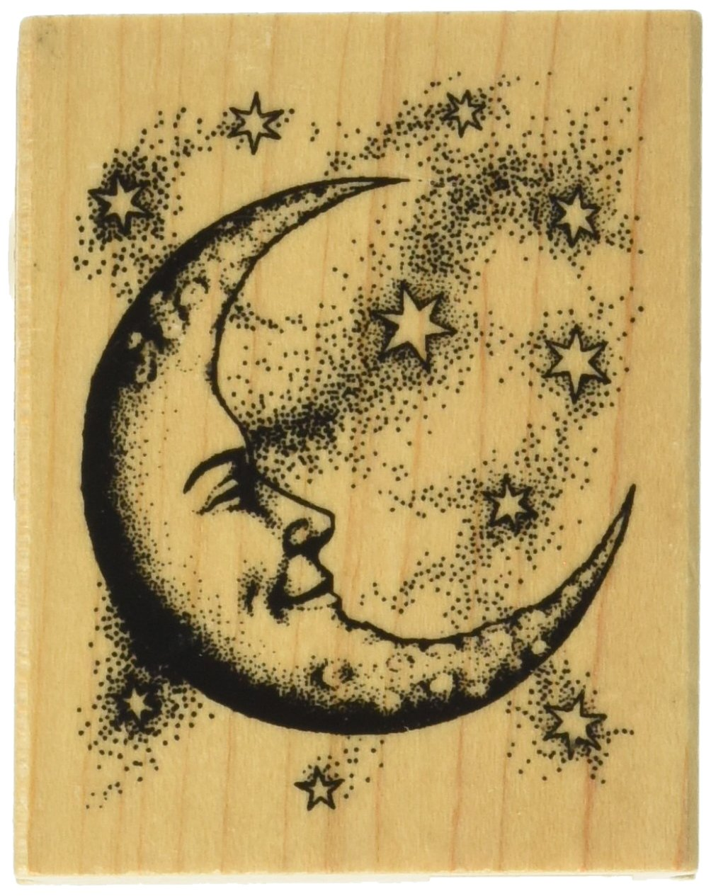Inkadinkado Mounted Rubber Stamp Crescent Moon 2.5X2
