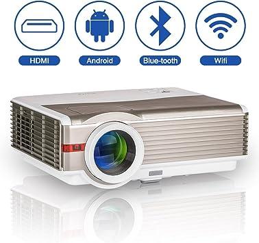 LED LCD Proyector inalámbrico Bluetooth 5000 Lumen WXGA HDMI HD Cine en casa WiFi Proyector Bluetooth