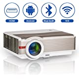 WXGA HD Smart WiFi Bluetooth Projector Wireless LED Android Home Cinema 5000 Lumen Support Airplay HDMI 1080P LCD…