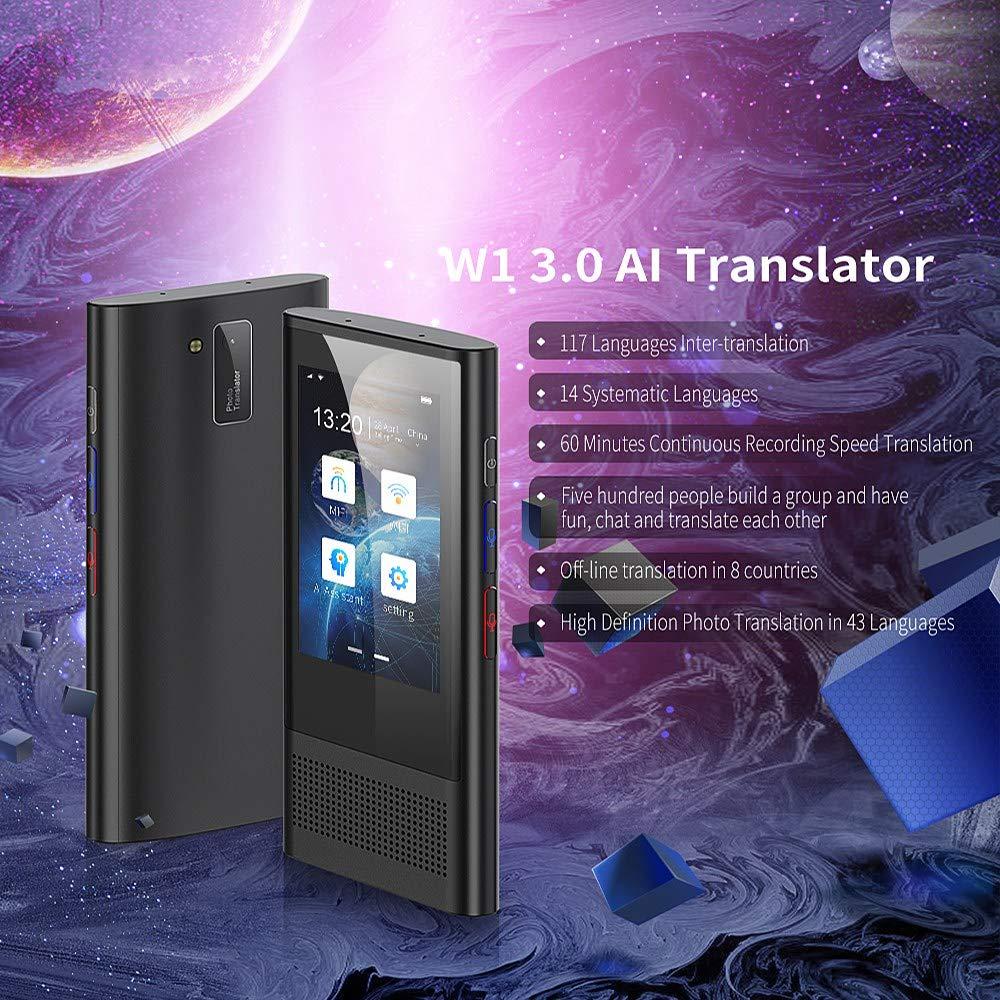 Nrpfell W1 3.0 TraduccióN AI Voice Photo Translator 3.1 Pulgadas IPS 4G WIFI 8GB Memoria 2080MAh 117 Idiomas TraduccióN OTG PortáTil