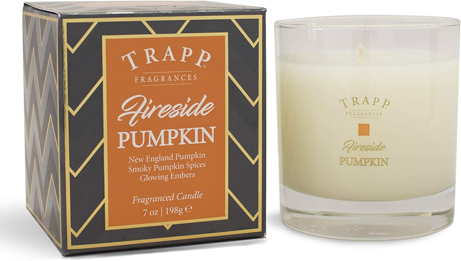 Trapp Seasonal Collection Home Fragrance 7oz Large Poured Scented Candle - Fireside Pumpkin