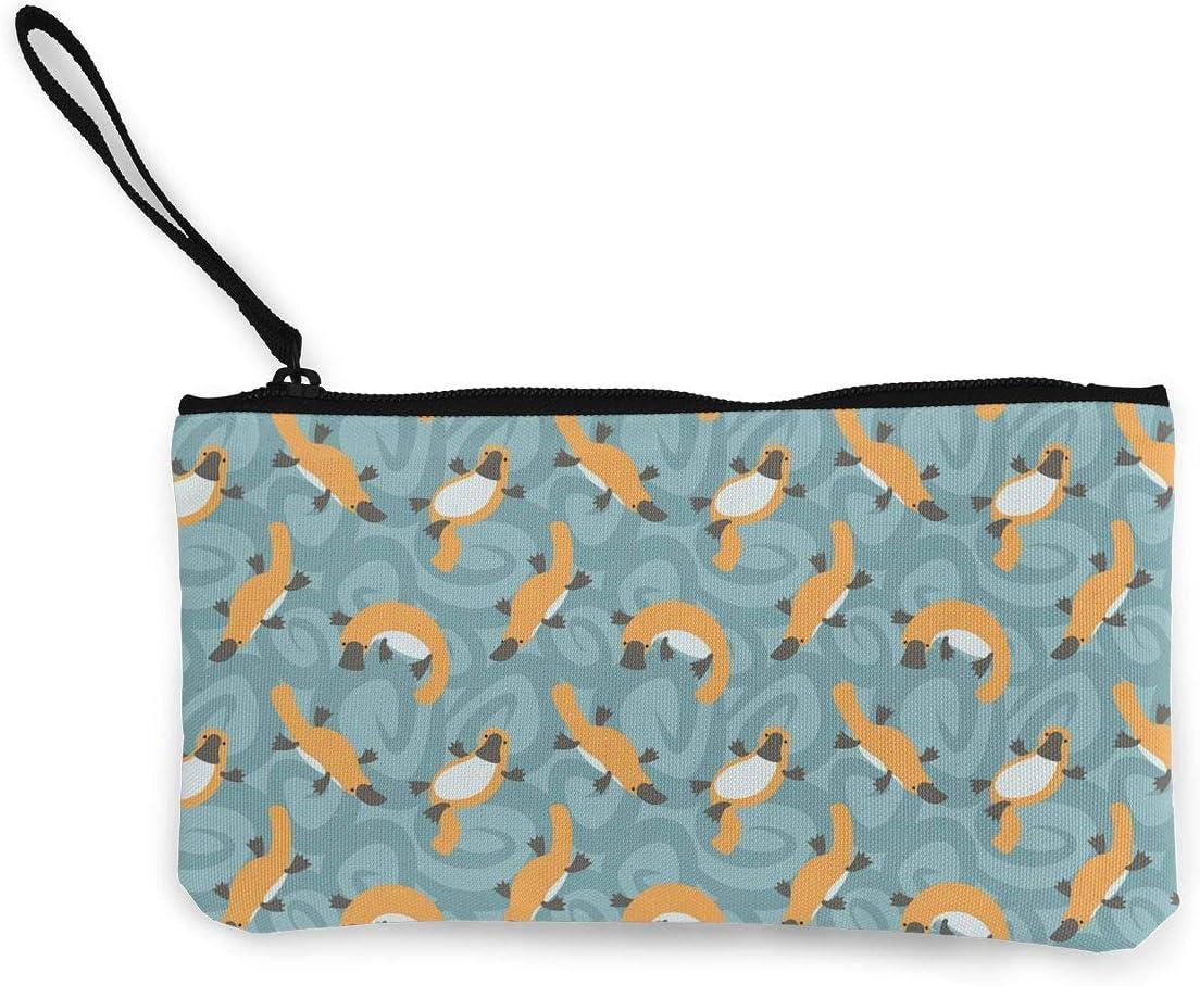 Canvas Cash Coin Purse,Hanging Monkey Print Make Up Bag Zipper Small Purse Wallets