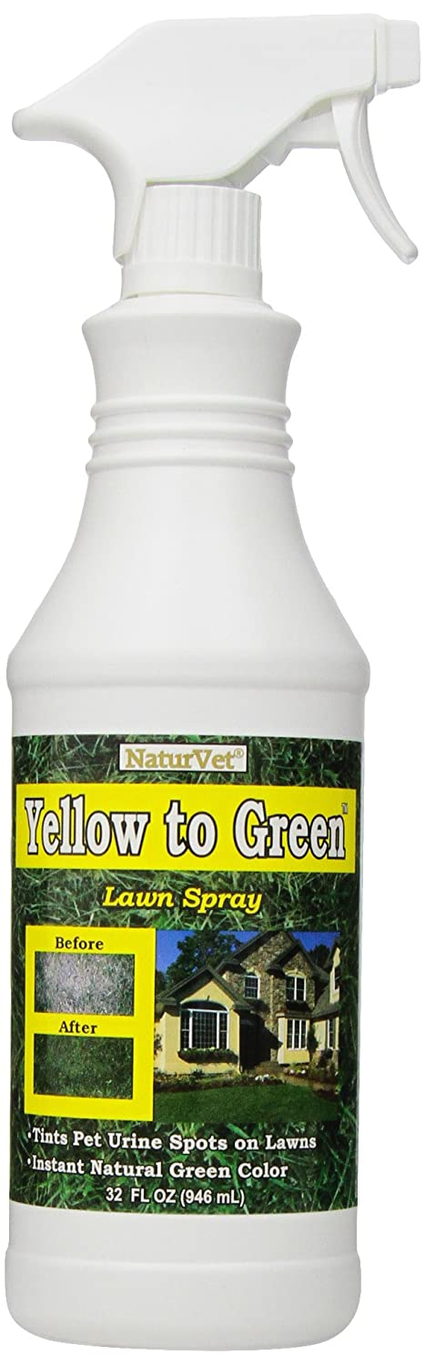NaturVet Yellow to Green Lawn Pet Spot Remover Spray, 32-Ounce