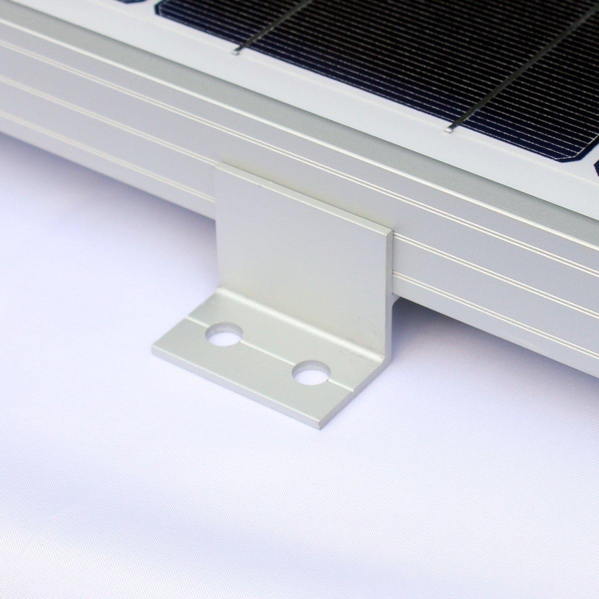 D/ächer oder andere flache Oberfl/ächen Booten Wohnwagen Komplett-Set von 4/Solar Panel Klammern f/ür die Montage auf Wohnmobilen