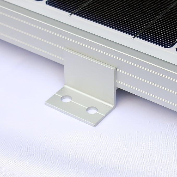 Komplett-Set von 4/Solar Panel Klammern f/ür die Montage auf Wohnmobilen Booten D/ächer oder andere flache Oberfl/ächen Wohnwagen