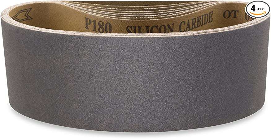 3 X 18 Inch 220 Grit Silicon Carbide Sanding Belts 8 Pack