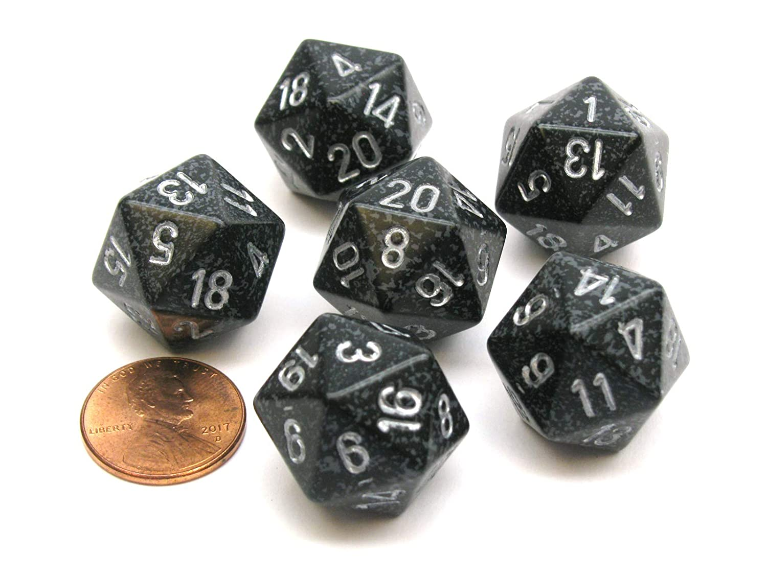 Amazon.com: Chessex Speckled 20 Sided D20 Dice, 6 Pieces ...