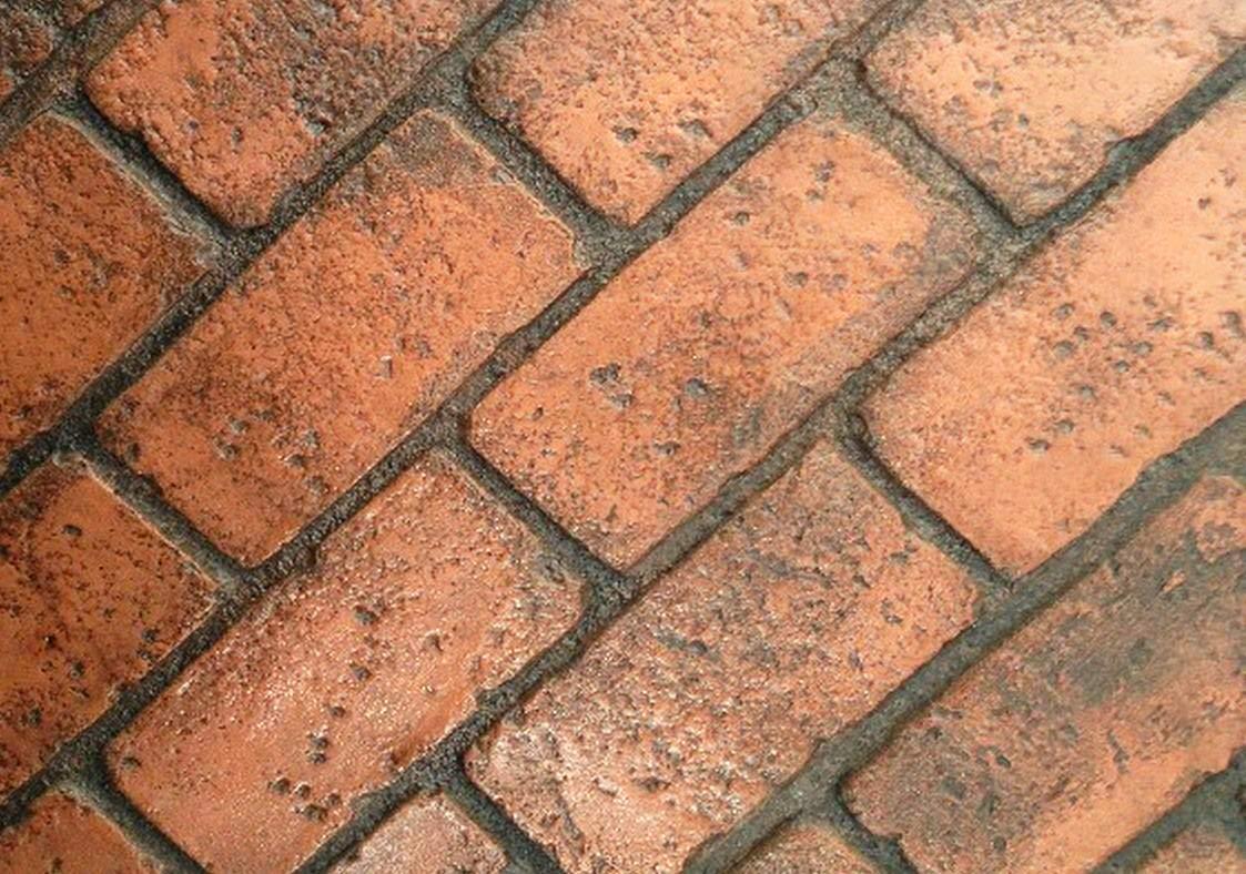 Worn Brick Running Bond Concrete Stamp Single by Walttools | Classic Masonry Paver Pattern, Sturdy Polyurethane Texturing Mat, Decorative Realistic Detail (Floppy/Flex) by Walttools