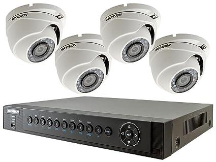 Hikvision Turbo HD TVI cámara casa sistema de seguridad CCTV de cúpula de 4, 1080 P, ...