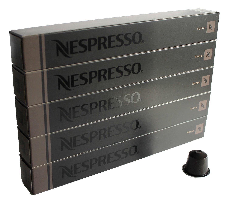 Nespresso OriginalLine Capsules: Roma, 50 Capsules - ''NOT Compatible with Vertuoline''