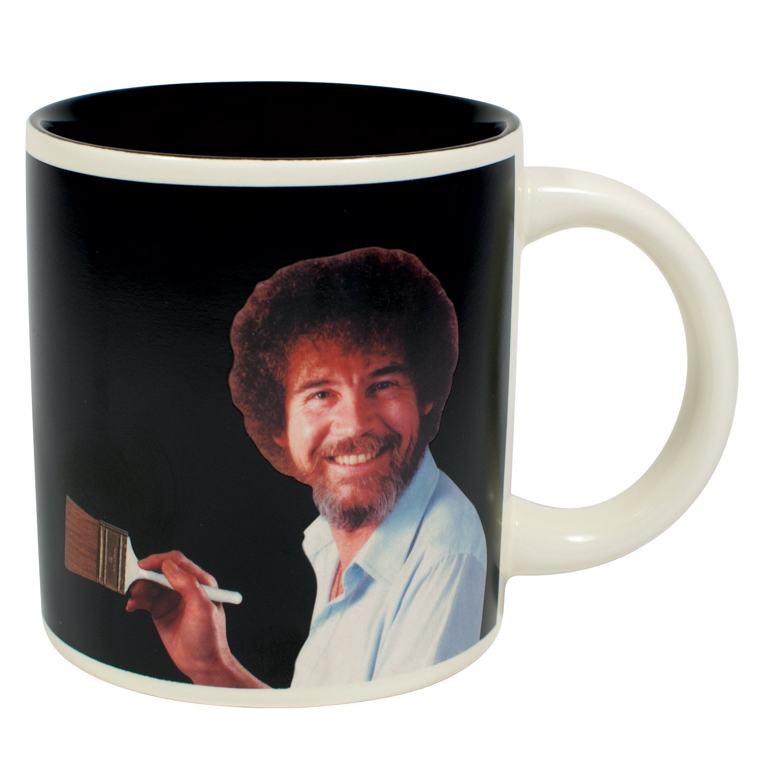 Bob Ross Heat Changing Mug - Add Coffee or Tea and a Happy Little Scene Appears - Comes in a Fun Gift Box by The Unemployed Philosophers Guild (Image #2)
