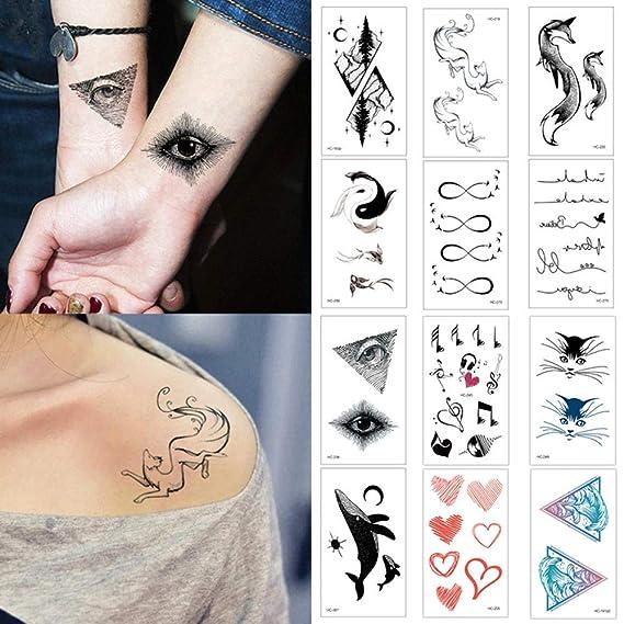 Tatuaje falso, tatuajes de transferencia, brazo metálico, diseños ...
