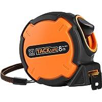 Tacklife TM-B03 Classique Mètre à Ruban Mesure 8m x 25mm /Tape Measure/Métrique de Liaison/Verrouillable avec un Crochet