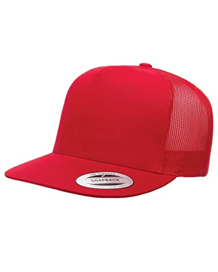 5c3de913665 Image Unavailable. Image not available for. Color  Yupoong Five-Panel Classic  Trucker Cap ...