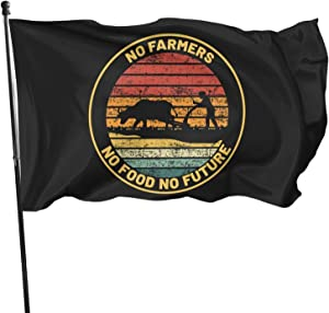 Leumius No Farmers No Food No Future Falg 3x5 Feet Flags Outdoor Decorations Banner Garden Farmhouse Yard Sign Decor Flags