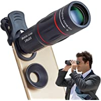Apexel Phone Camera Lens,18X Optical Camera Mobile Zoom Lens Manual Telescope Lens with Clamp for iPhone X/8 7/6S/6 Plus…