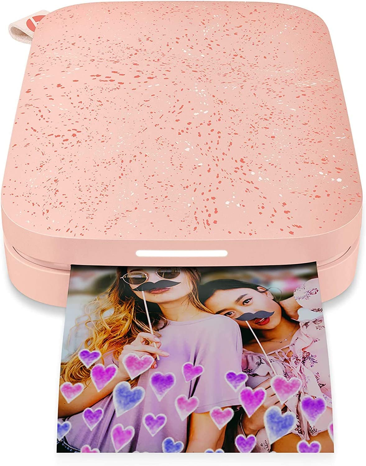 HP Sprocket Portable Photo Printer (2nd Edition) Bundle (Blush)