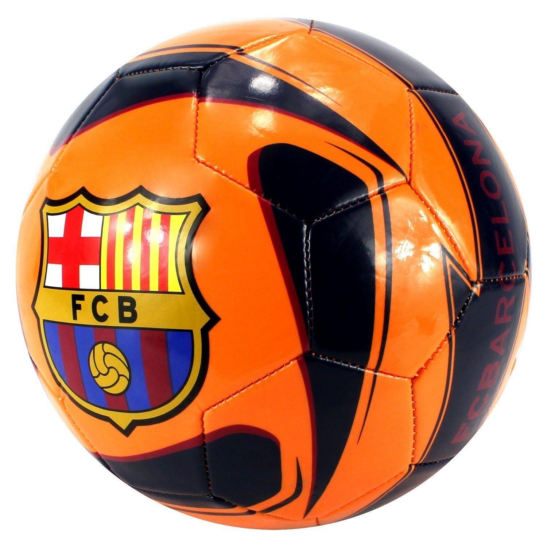 FC Barcelona Away Soccer Ball Size 5公式サイズオレンジ新しいライセンス製品 B011DO3W0G