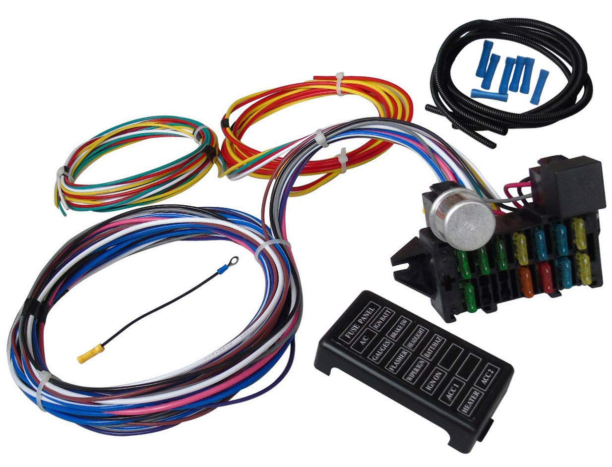 OUYAWEI 12 Circuit Universal Wiring Harness Muscle Car Hot Rod Street Rod XL Wires