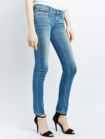 Revel demi curve skinny jeans contrast indigo