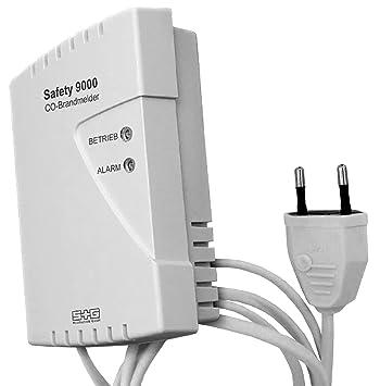 CO-Brandmelder SAFETY 9000 230 V, mit 2 m Netzkabel. Einziger ...