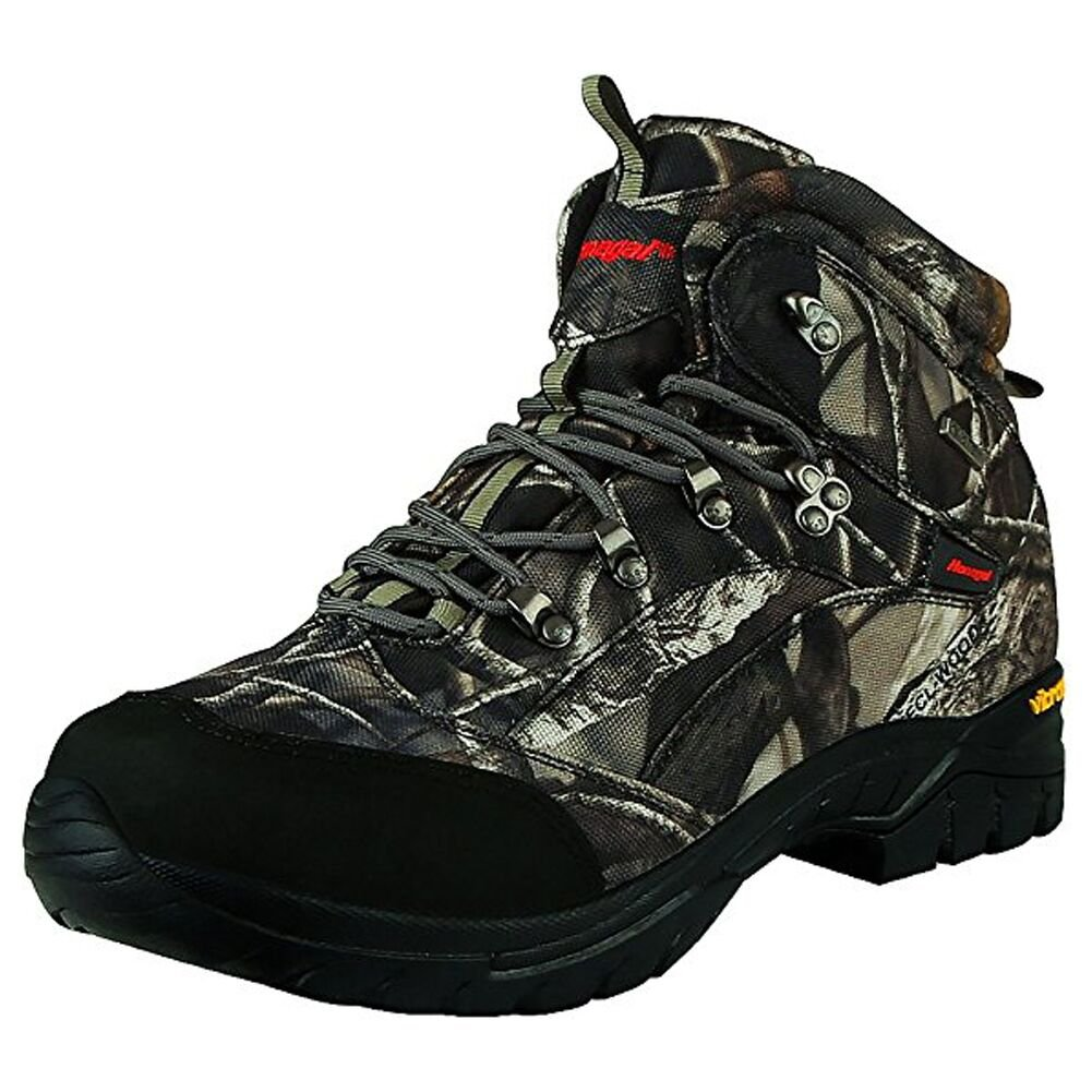 HANAGAL Men's Bushland Waterproof Hunting Boots, Size 7.5 Camouflage