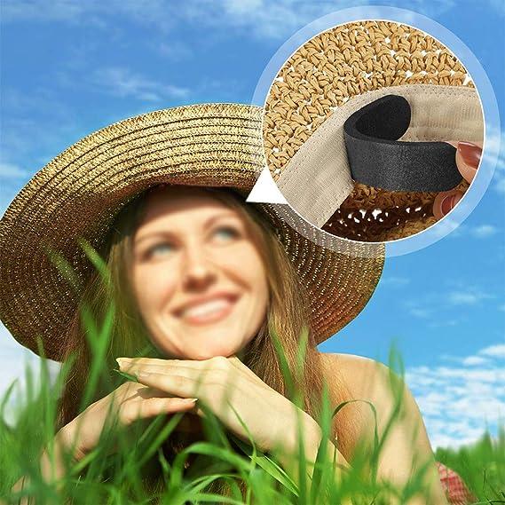 AMACOAM Reductor de Sombrero Banda Cinta de Espuma Reducen Tama/ño Sombrero Banda Reductora de Espuma para Sombreros Gorros Banda de Sudor Hombres y Mujeres Negro y Blanco 20 Piezas