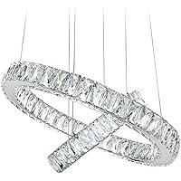 BOKT Crystal Chandeliers Modern LED Ceiling Lights Fixtures Dining Room Pendant Lights Contemporary Chandelier Lighting…