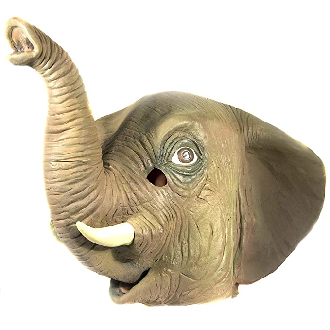 HMS elefante realista Animal máscara