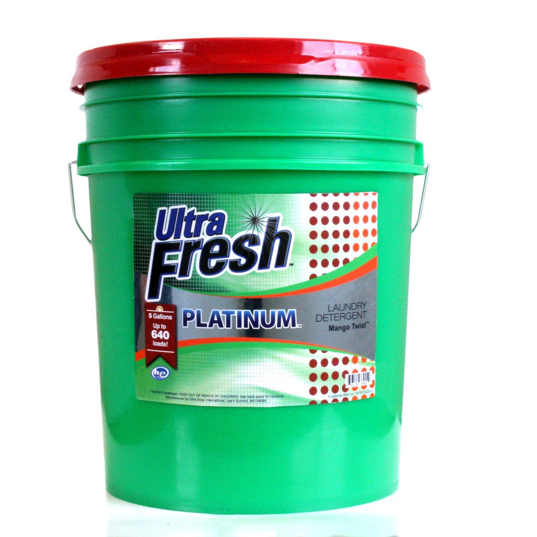 Ultra Fresh UFPGAMTL Platinum Mango Twist Laundry Detergent, 5 gal, 640 oz. by Ultra Fresh