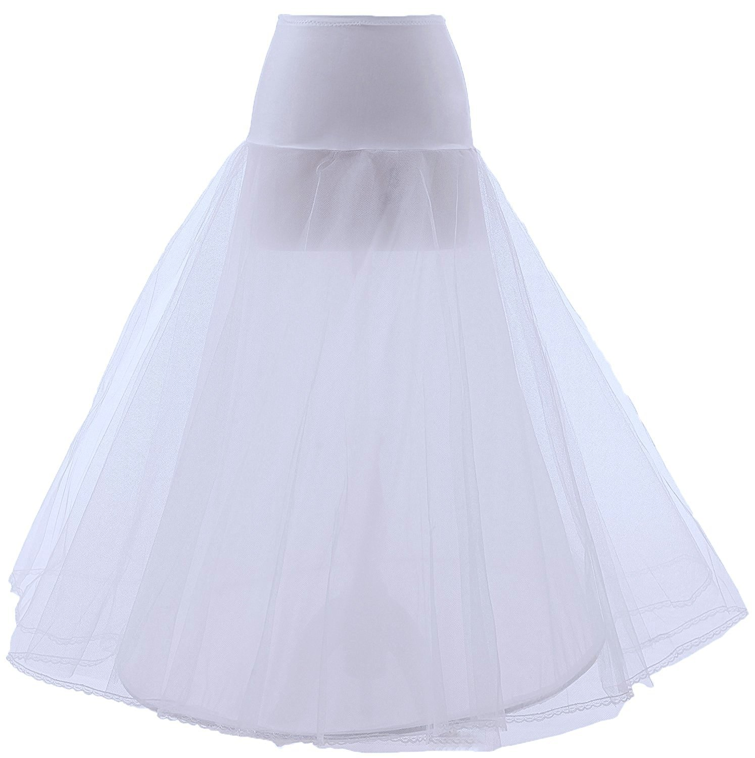 Women's Wedding Underskirt Slip Long Crinoline Tulle Bridal Petticoat Style 1 Mermaid Juntai