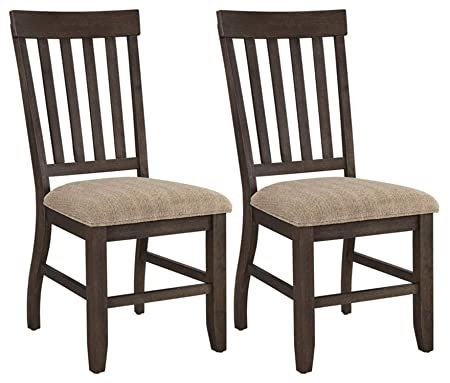 img buy Ashley Furniture Signature Design - Dresbar Dining Room Chair - Classic Rake Back with Plush Seats - Set of 2 - Cream Finish