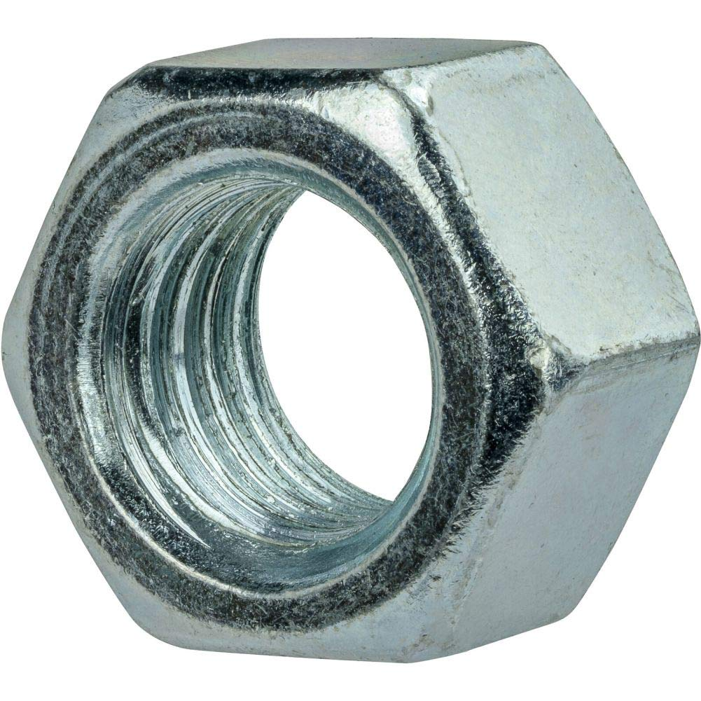 1''-14 Finished Hex Nuts Zinc Plated Steel Grade 2 Qty 100 by Hontools