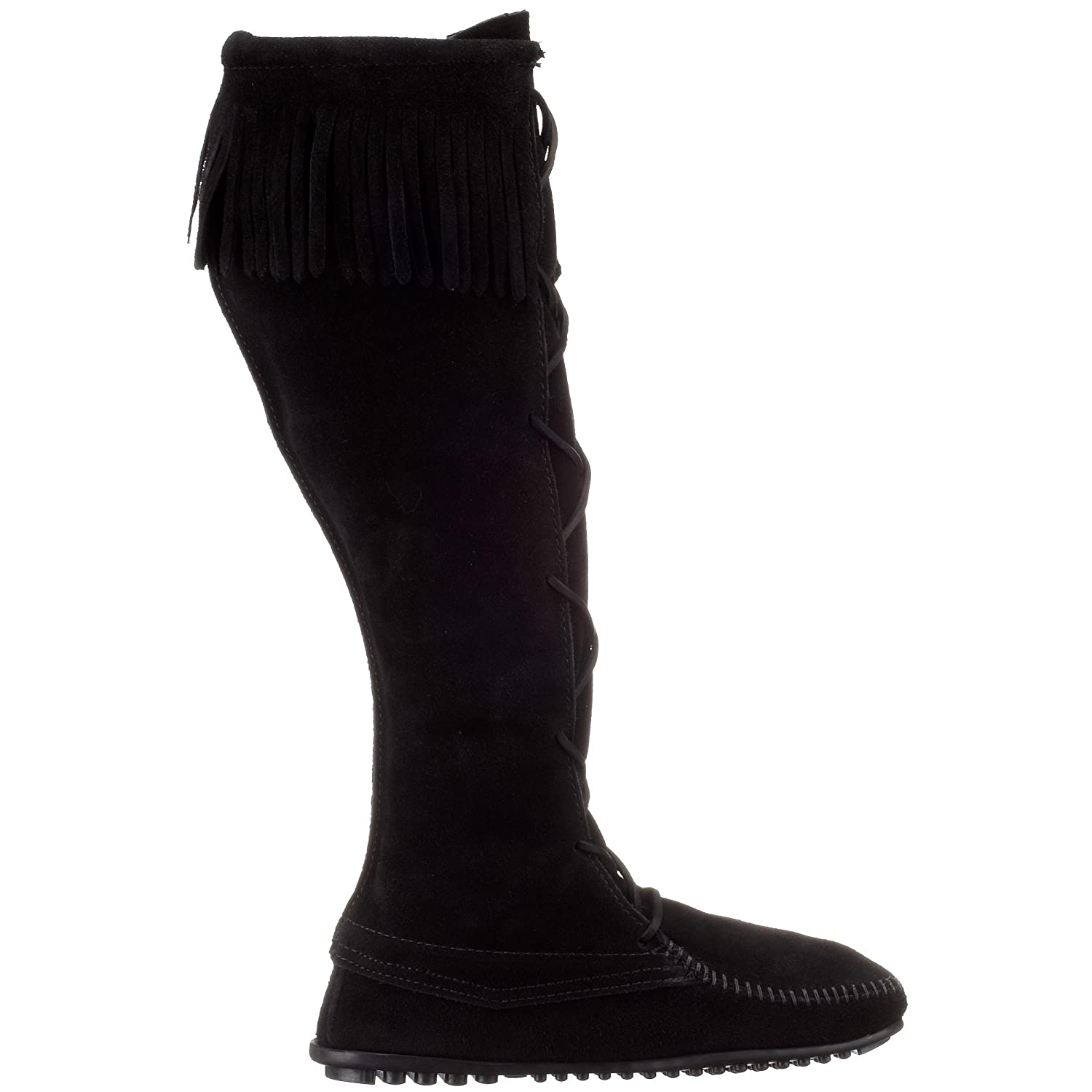Minnetonka Women's 1429 Front Lace Knee-High Boot B0007STVVO 8 B(M) US|Black