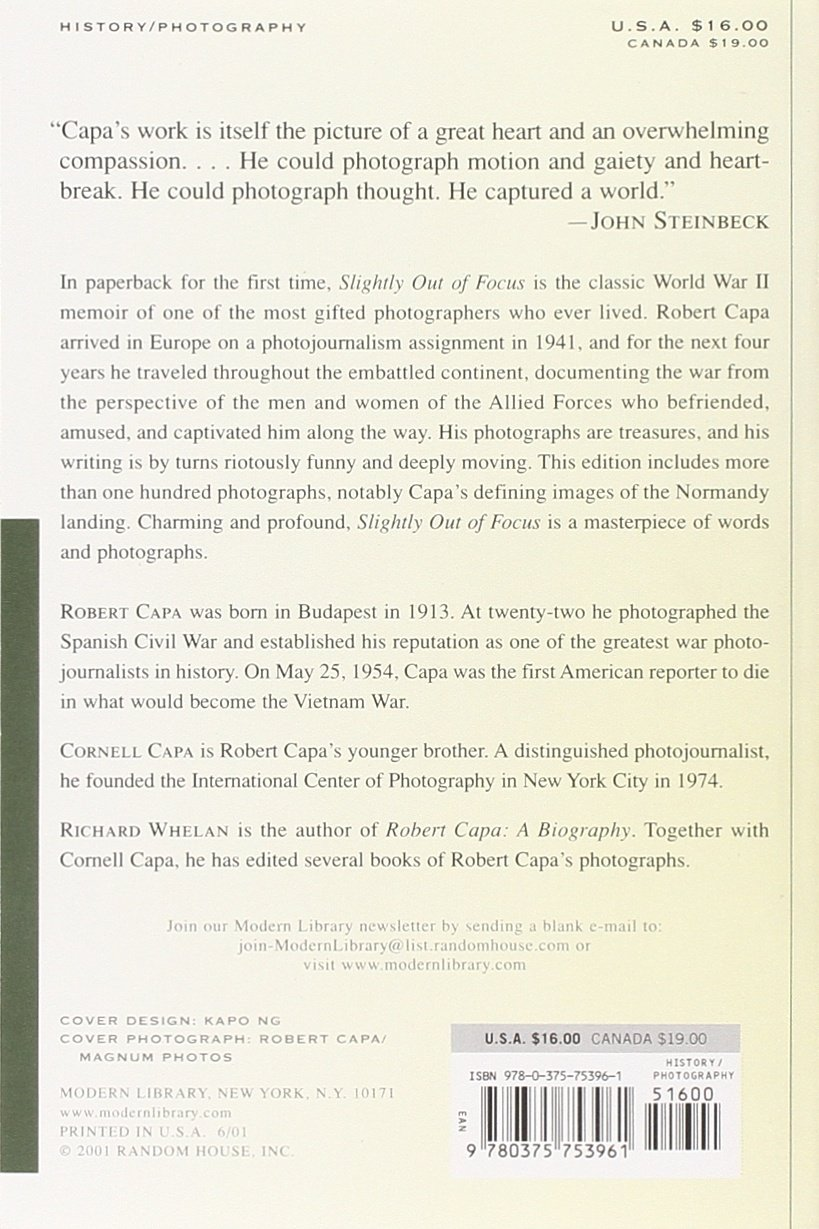 Robert Capa Slightly Out Of Focus Pdf