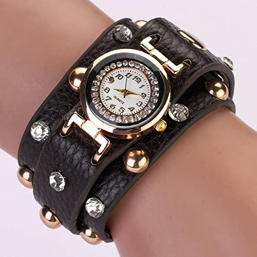 Zopho (TM) 77 Fashion Fashion Casual PU Leather Bracelet Wristwatch Watch Women Reloj Mujer
