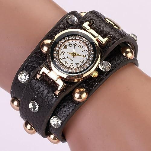Zopho (TM) 77 Fashion Fashion Casual PU Leather Bracelet Wristwatch Watch Women Reloj Mujer