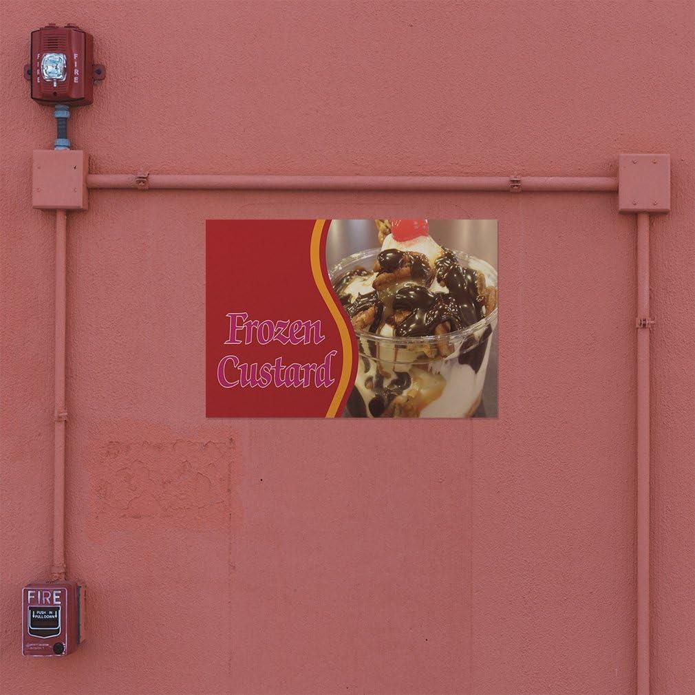 Decal Sticker Multiple Sizes Frozen Custard #1 Retail Sweet Outdoor Store Sign White 69inx46in One Sticker