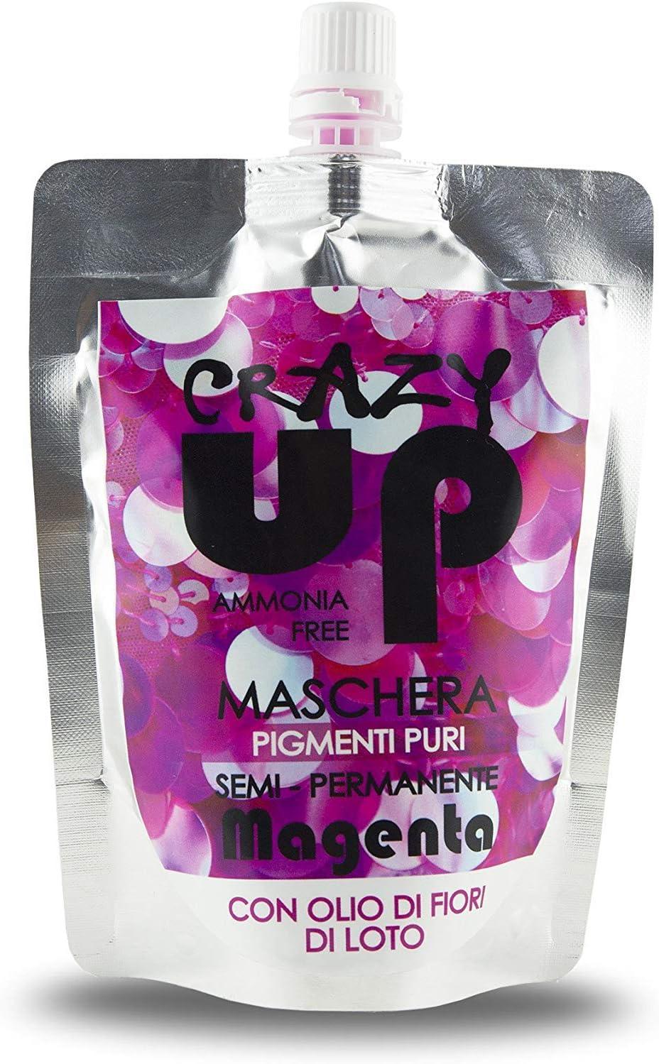Crazy Up Mascarilla Colorante para el cabello Sin Amoniaco Semipermanente - Magenta - 200 ml