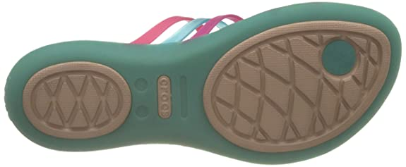 4fdd60a52791 crocs Women s Huarache Multi and Island Green Flip-Flops and House Slippers  - W11  Buy Online at Low Prices in India - Amazon.in