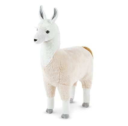 Amazon Com Melissa Doug Standing Lifelike Plush Llama Stuffed