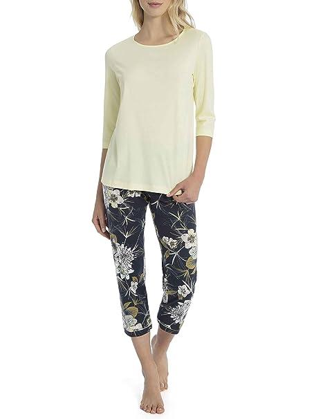 Calida - Pijama - Floral - para Mujer Space Blue Large=48/50