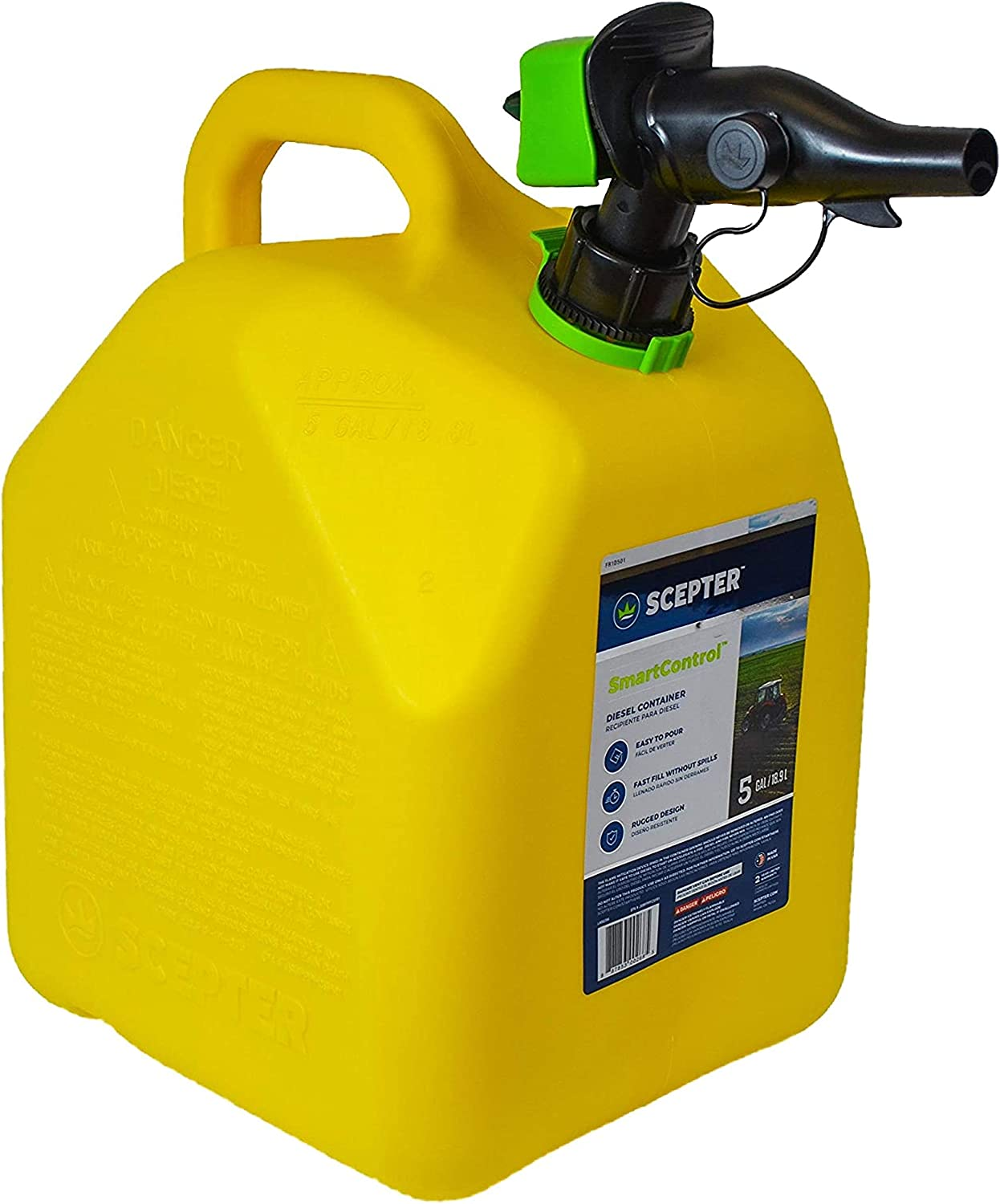Scepter 5 Gallon SmartControl Gas Can with an Integrated Air Vent in Spout