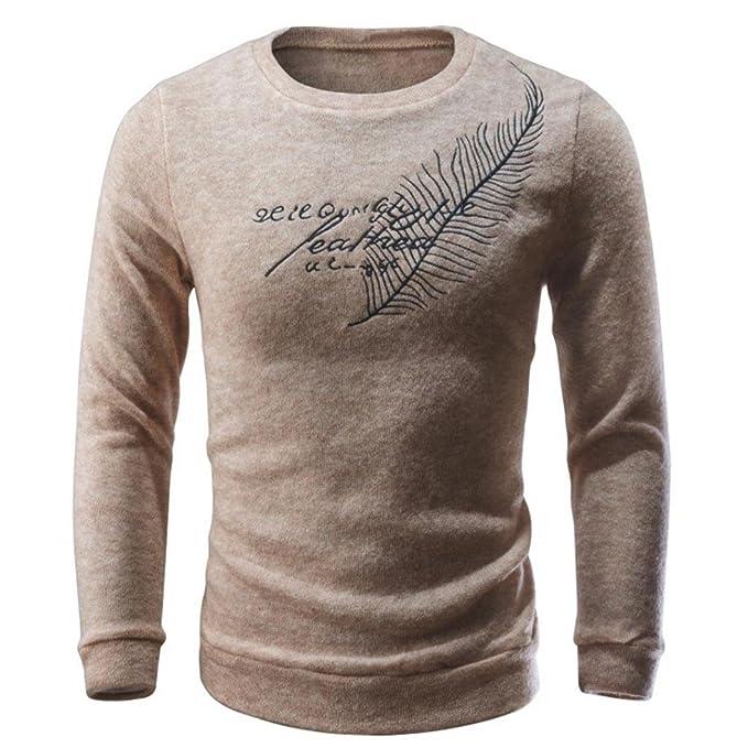 Suéter hombre, Amlaiworld Hombres otoño invierno cartas casuales suéter tejer Tops blusa: Amazon.es: Ropa y accesorios