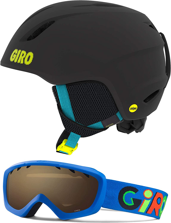 Giro Crue Combo Pack Kids Snow Helmet w//Matching Goggles