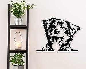 Tamengi Australian Shepherd Metal Art - Dog Metal Wall Decor - Australian Shepherd Metal Sign - Dog Wall Art - Pet Decor - Dog House Decor